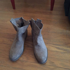 Merona Taupe Ankle Boots